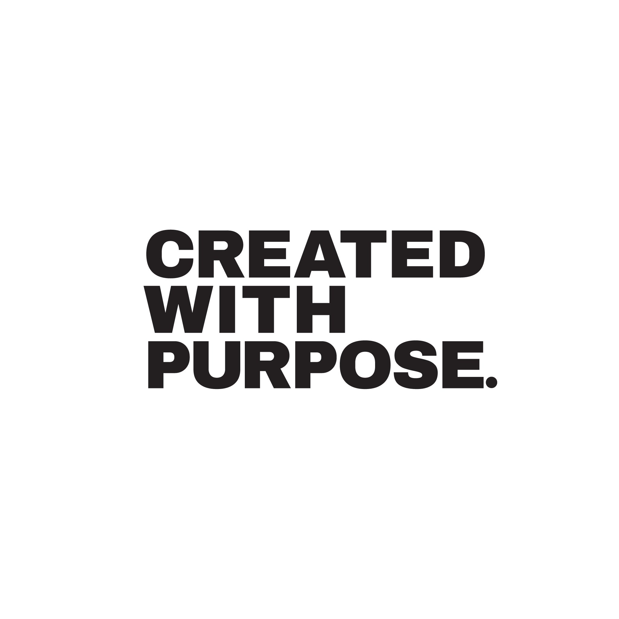 Created With Purpose - White