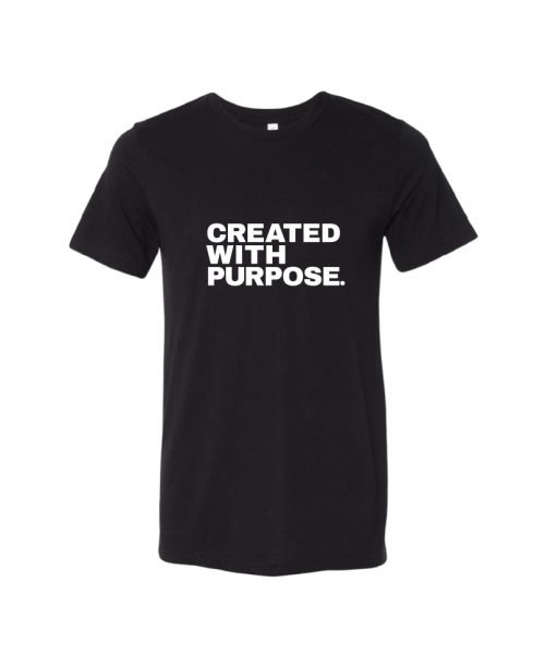 Created with purpose - Black - unisex